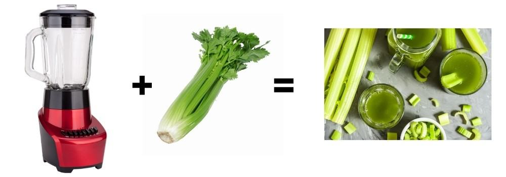 how to make celery juice with a vitamix