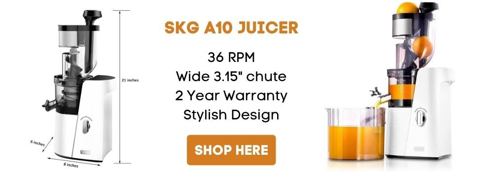 skg wide chute slow masticating juicer extractor