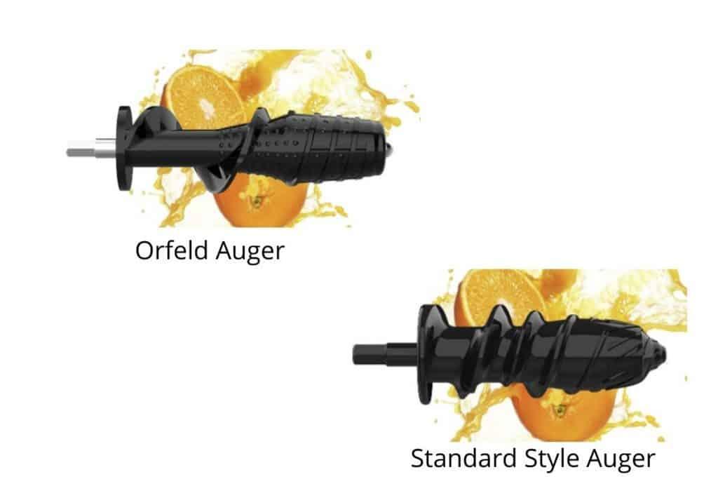 orfeld juicer auger design